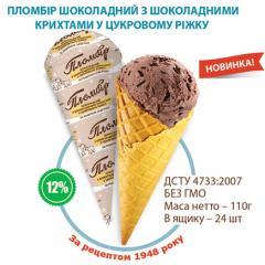 Ice cream chocolate with chocolate crumbs