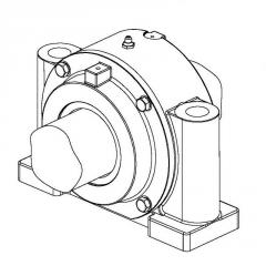 Cases of GLH bearings with use of spherical...
