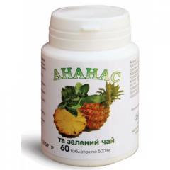 Таблетки для схуднення ананас і зелений чай
