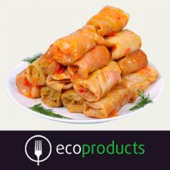 Stuffed cabbage of a manual molding with mea