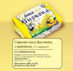 Сирна маса з ваніллю, 5% жирності