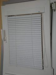 Horizontal blinds for PVC of the Pris Hit windows