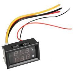 Tsifrovy DC voltmeter 0 - 100B + ampermeter 0 -