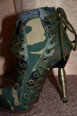 Footwear of a military female