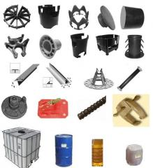 Accessories for monolithic construction, clamps of