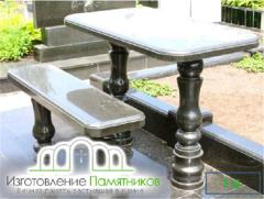 Стол и лавка T-6