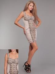 Платье гипюрPG-F0037-BEG