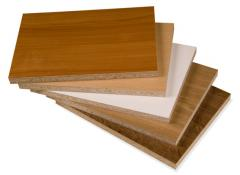 Plates the laminated wood-shaving