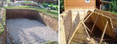 Заливка бетона для бассейна