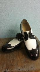 Туфли мужские черно белые Инспектор