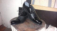 Black varnish shoes (TM-7)