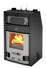 The wood furnace fireplace for a bath and a sauna