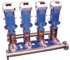 Pump installations of increase of pressure