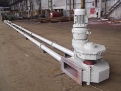 System of conveyors of pipe chain
