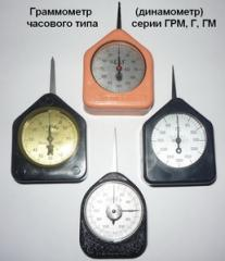 Граммометры (динамометры) часового типа серии Г,
