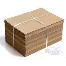 The cardboard is laying