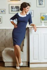 Dress with an asymmetric collar