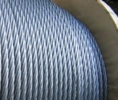 Ropes steel, corrosion-proof, galvanized