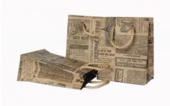 Пакеты бумажные. Пакет ретро S 11,5х9х4,5см