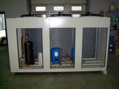 The compressor and condenser block for
