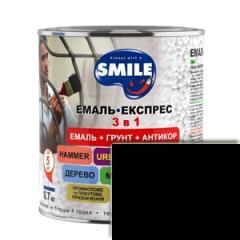 Грунт-эмаль Smile 3в1 антикоррозионная Черная