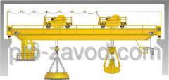 Кран мостовой магнитно-грейферный г/п 3,2+8 т.