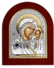 Icon Silver the Mother of God Kazan with Silver
