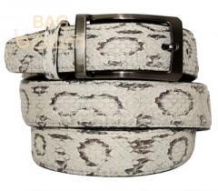 Bilateral belt from leather of a cobra (U-103