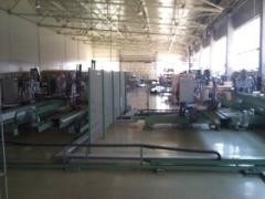 Plant for production of 200-240 PVC of windows
