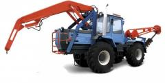 Wheel tractor XTZ-150K. Drilling and crane machine