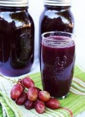 The concentrated juice of red grapes of 65%