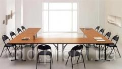 Set of tables for a conference hall