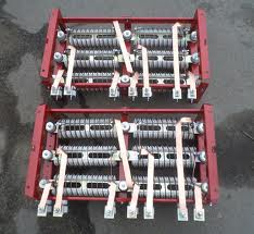 Blocks of resistors crane