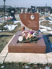 Памятник гранитный горизонтальный коричневый