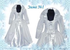 Детский карнавальный костюм Зима №1