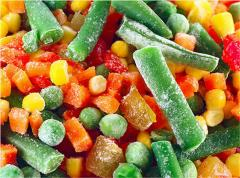 The frozen vegetables