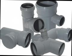 Tee for a pipe of sewer DN 110x110x45