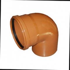 Колено для наружной канализации DN 110х90