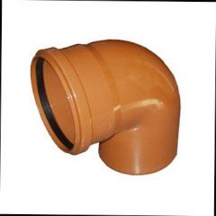Колено для наружной канализации DN 200х90