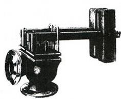 Lever and cargo safety valve pig-iron flange