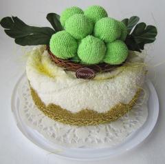 """Полотенце-тортик """"Торт с зеленым"""