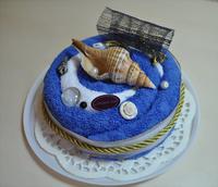 "Полотенце-тортик ""Торт морской"""