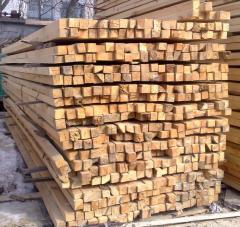 Bar construction pine, alder. ash-tree (wholesale