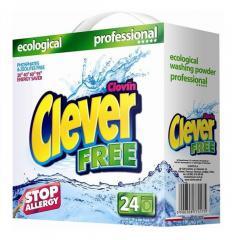 Стиральный порошо Clever Free PROFESSIONAL 1,68 кг