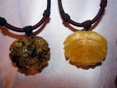 Necklace from amber