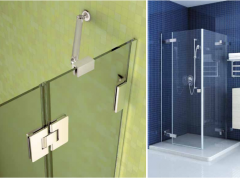 Glass shower partitions
