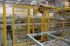 Welded panel system from a galvanized bar