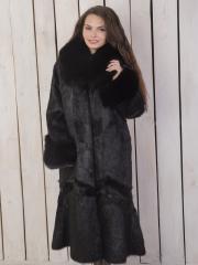 Пальто из нутрии с мехом песца (ПН-5)