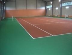 Теннисные корты с акриловым покрытие типа...