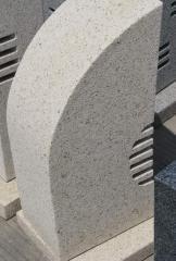Скульптура - фонарь из камня геометрическая